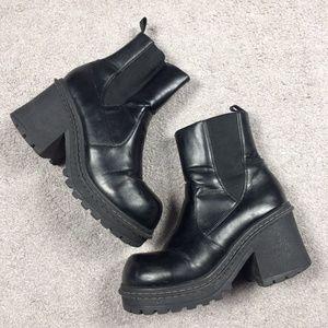 90's Chunky Heel Platform Goth Grunge Ankle Boots